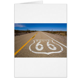 route 66 road sign begin end start road street usa card