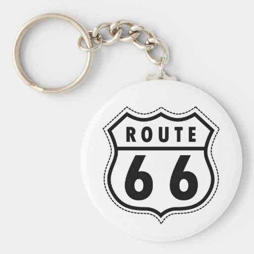 Route 66 Road Sign Key Chains