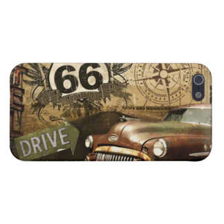 """Route 66 Road Trip """"Gas Station"""" iPhone 5/5s Case"""