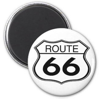Route 66 - Round Magnet