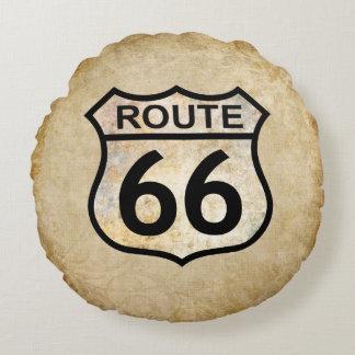 Route 66 round pillow