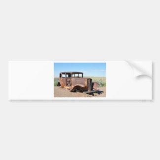 Route 66 Rusty Hot Rod Rt 66 USA Petroliana Car Tr Car Bumper Sticker