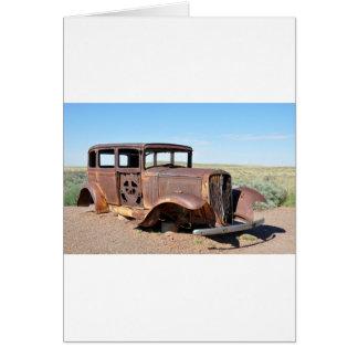 Route 66 Rusty Hot Rod Rt 66 USA Petroliana Car Tr Card