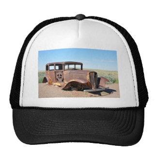 Route 66 Rusty Hot Rod Rt 66 USA Petroliana Car Tr Trucker Hat