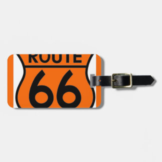 route 66 safety orange Customize this! Tag For Bags