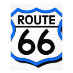 Route 66 Shield with Blue & Shadow Letterhead Design