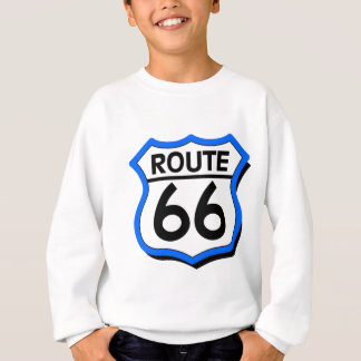 Route 66 Shield with Blue & Shadow Sweatshirt
