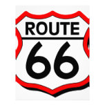Route 66 Shield with red & Shadow Custom Letterhead