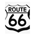 route 66 shield with shadow letterhead