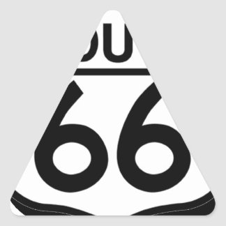 route 66 shield with shadow triangle sticker