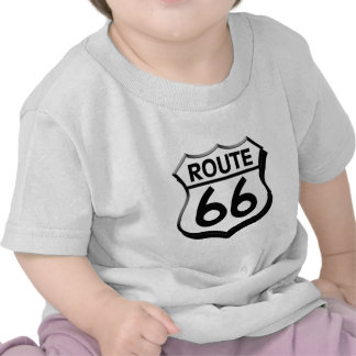 route 66 shield with shadow shirts