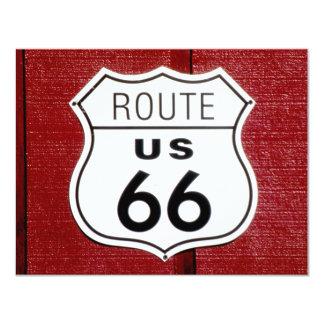Route 66 Sign 4.25x5.5 Paper Invitation Card
