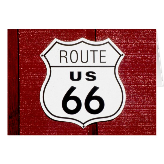 Route 66 Sign Card