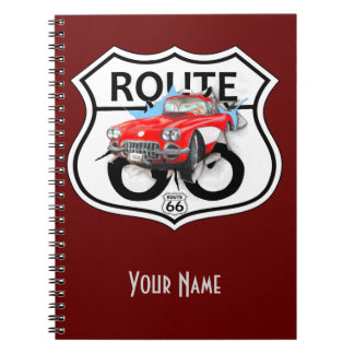 Route 66 sign gifts notebook