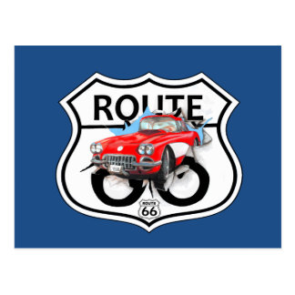 Route 66 sign gifts postcard
