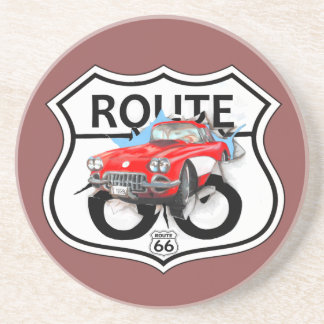Route 66 sign gifts sandstone coaster