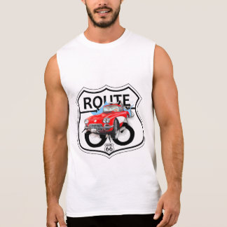 Route 66 sign gifts sleeveless t-shirt