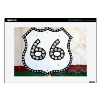 """Route 66 Sign 15"""" Laptop Decal"""