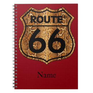 Route 66 Snake Skin Gift Notebook