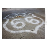Route 66 Spray Painted on Road, Alanreed, Texas, Card