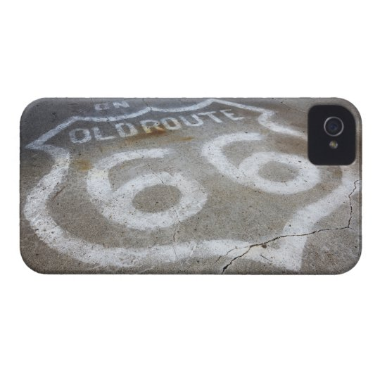 Route 66 Spray Painted on Road, Alanreed, Texas, iPhone 4 Case-Mate Case