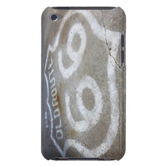 Route 66 Spray Painted on Road, Alanreed, Texas, iPod Case-Mate Case
