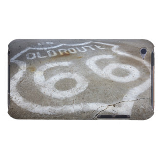 Route 66 Spray Painted on Road, Alanreed, Texas, iPod Touch Cover