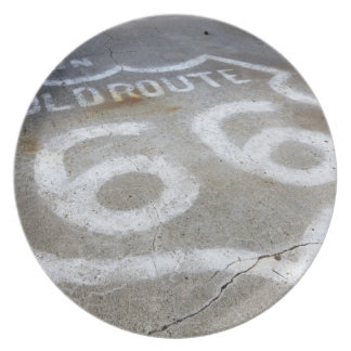 Route 66 Spray Painted on Road, Alanreed, Texas, Plate