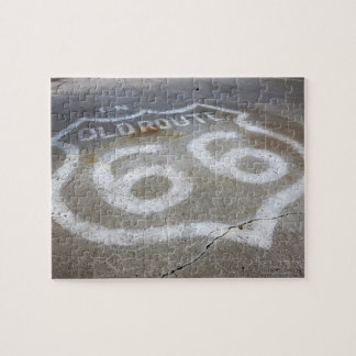 Route 66 Spray Painted on Road, Alanreed, Texas, Puzzles