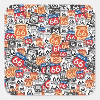 Route 66 square sticker