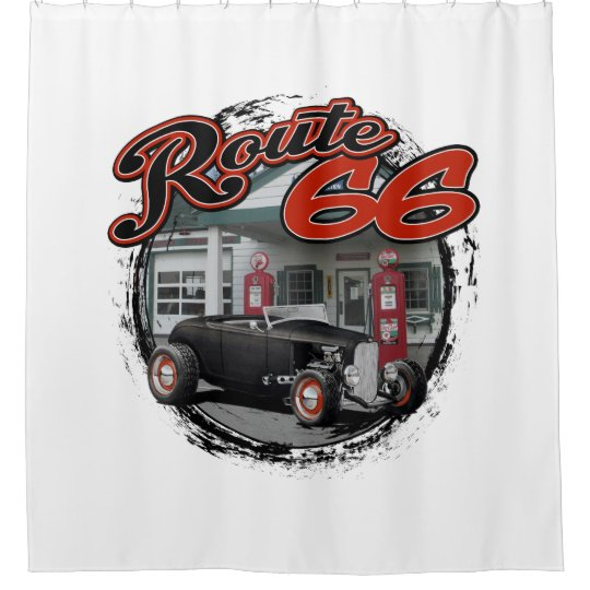 Route 66 Station Shower Curtain