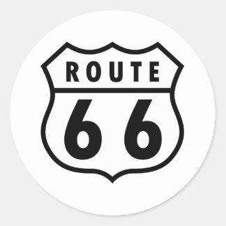 Route 66 round sticker
