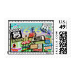 Route 66 - T Postage Stamp