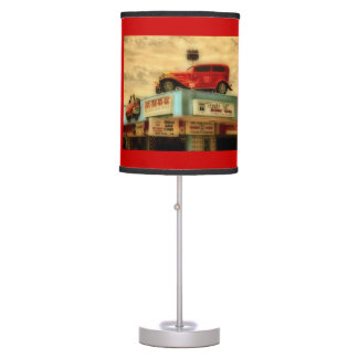 Route 66 table lamp