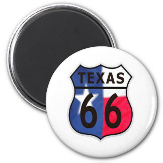 Route 66 Texas Color 2 Inch Round Magnet