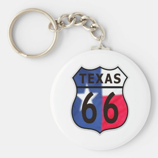 Route 66 Texas Color Keychain