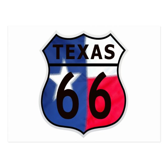 Route 66 Texas Color Postcard