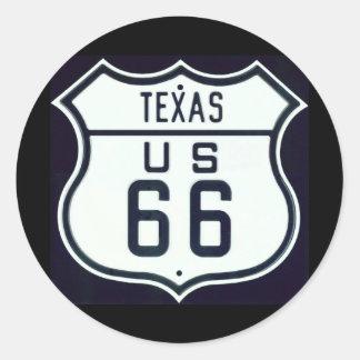 Route 66 Texas Sticker