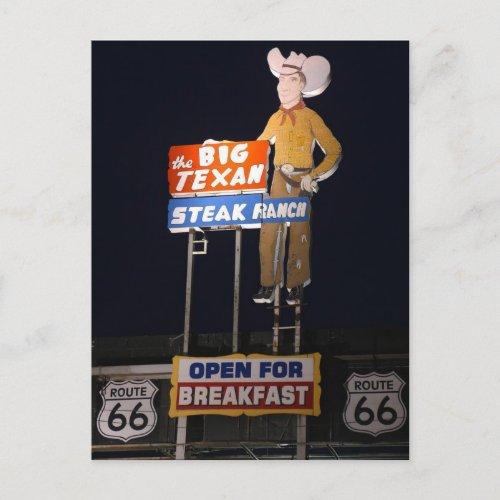 ROUTE 66 Texas TRAVEL POSTCARD