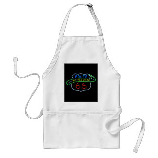 Route 66, The Mother Road, Neon Sign Adult Apron