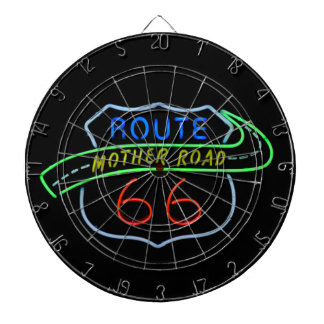 Route 66, The Mother Road, Neon Sign Dart Board
