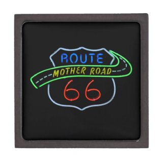 Route 66, The Mother Road, Neon Sign Gift Box