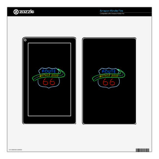 Route 66, The Mother Road, Neon Sign Kindle Fire Decal