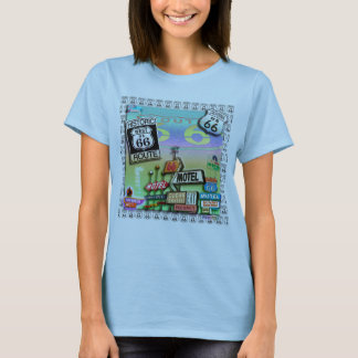ROUTE 66 - The Mother Road WOMENS LIGHT TEES