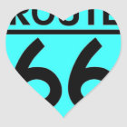 route 66 turquoise heart sticker