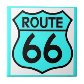 route 66 turquoise tile