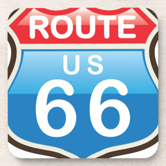 Route 66 vector sign drink coaster
