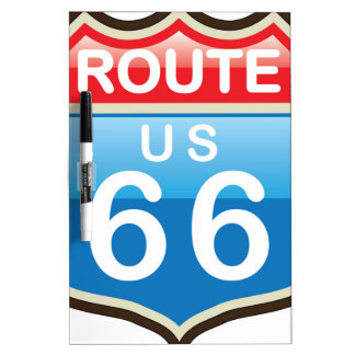 Route 66 vector sign Dry-Erase board