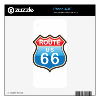 Route 66 vector sign skin for iPhone 4S