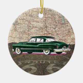 Route 66 Vintage Auto - SRF Ceramic Ornament
